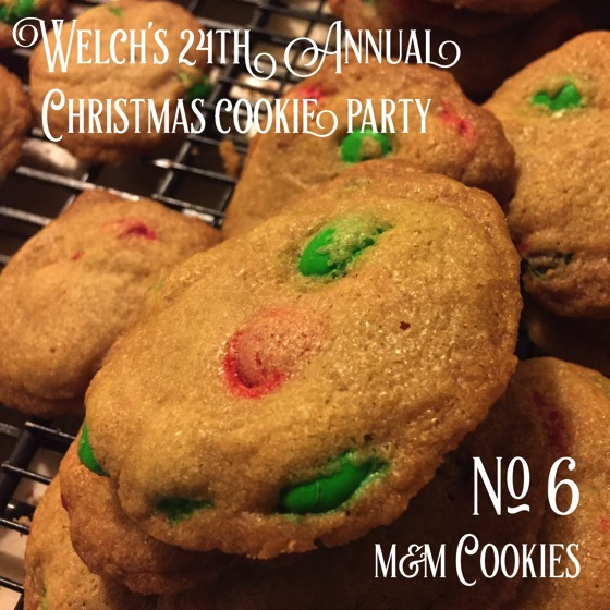 No. 6 M&M Cookies | Welch's 24th Annual Christmas Cookie Party