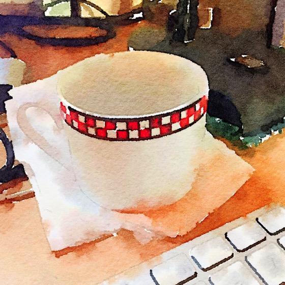 Morning Desktop (Watercolor)