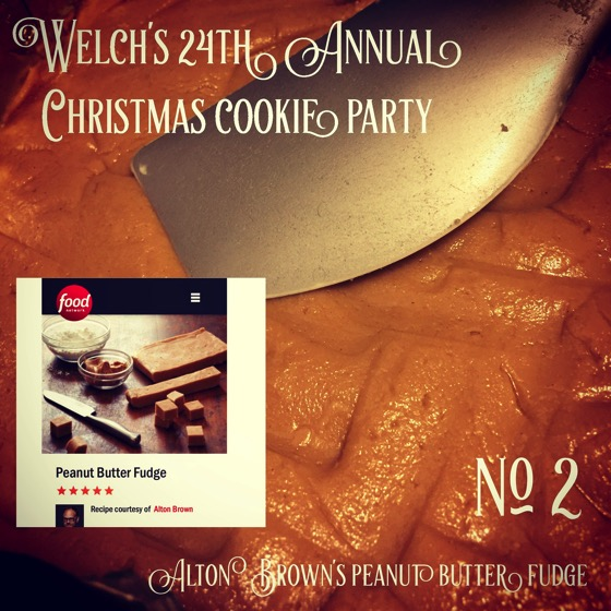 No. 2 Alton Brown's Peanut Butter Fudge | Welch's 24th Annual Christmas Cookie Party  [Photo]
