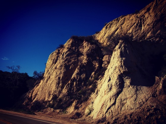 Granite cut, Little Tujunga Canyon. Angeles National Forest