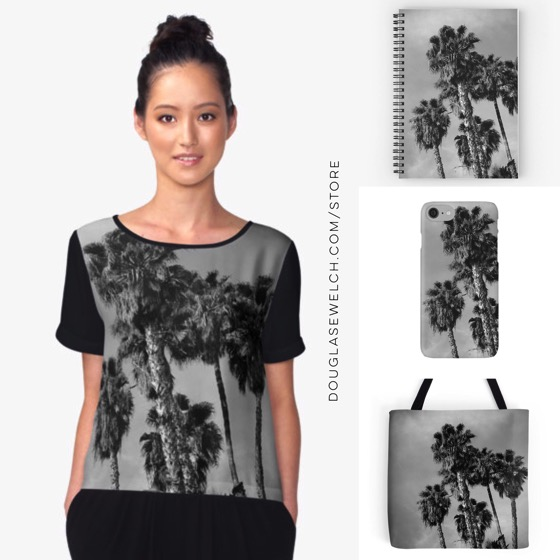 """Coordinate with these """"Palm Trees, Los Angeles"""" Tops and Accessories!"""