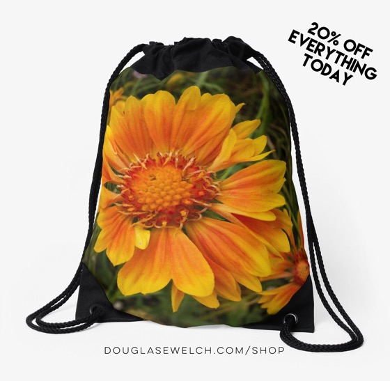 """20% Off Sale Today on everything in my store, including this """"Shining Brightly"""" Drawstring Bag and Much More!"""