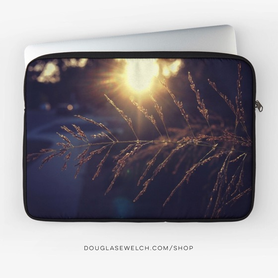 "Shop for this ""Sunset Lights The Grass"" Laptop Sleeve and Much More!"