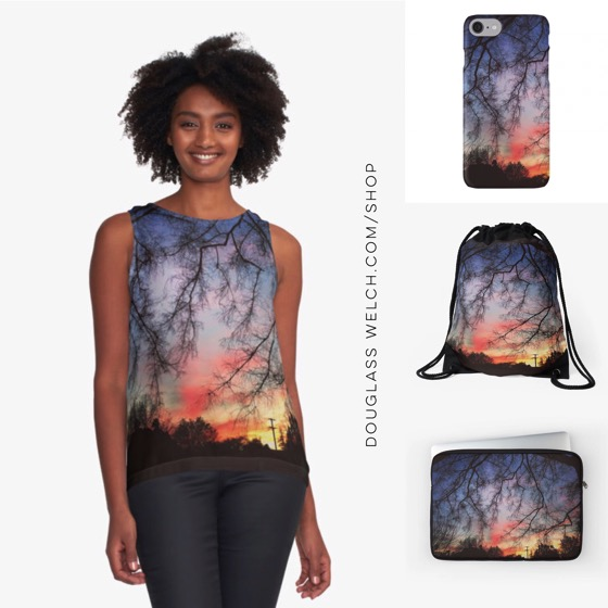 """Shop Now for these """"Winter Sunset"""" Tops, Tees and Accessories"""