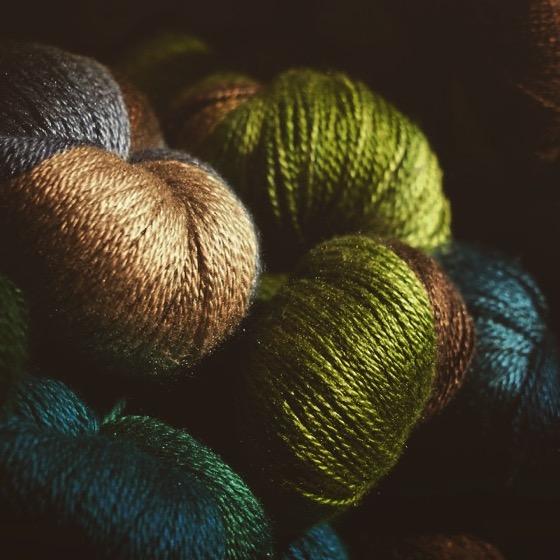 Skeins of yarn