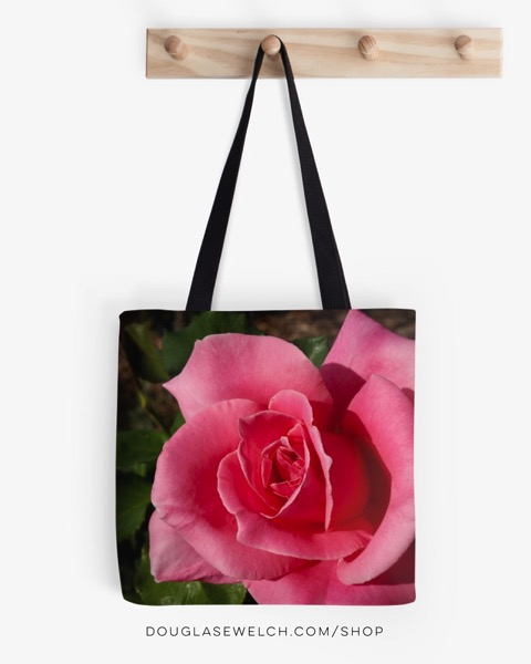 """Carry your school books, your groceries or your papers in this lovely """"Bewitched Rose"""" Tote"""