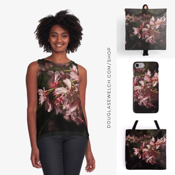 """It's Spring Every Day with these """"Cherry Blossoms (Sakura) さくら"""" Tops, Scarves, Totes and iPhone cases"""