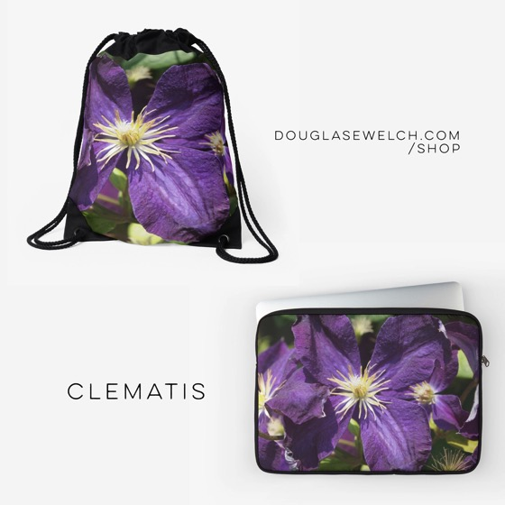 """Get these """"Clematis Flower"""" Bags, Laptop Sleeves and Much More!"""