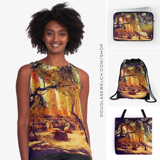 Temple and Olive Trees, Agrigento, Sicily – Tops, Totes, Bags and Much More!