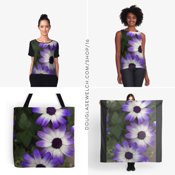 """Get and Gift these """"Purple & White"""" Tops, Totes, Scarves, iPhone Cases, Laptop Sleeves and Much More!"""