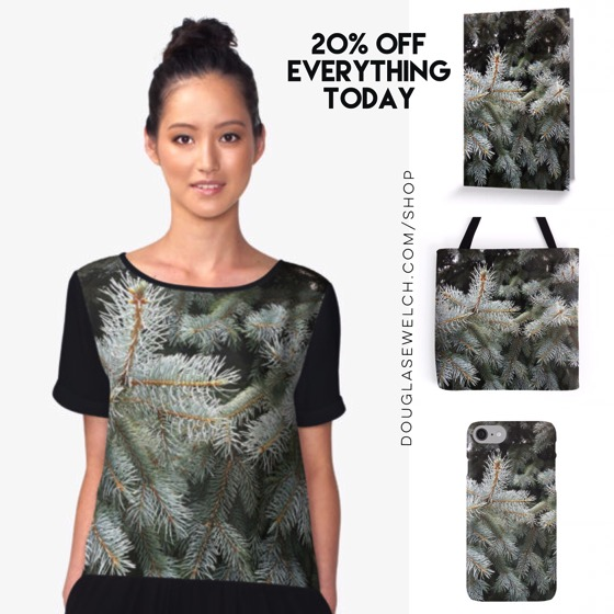 "Save 20% Off Everything Today Including these ""Silver Fir"" Tops, Cards, Cases and More!"