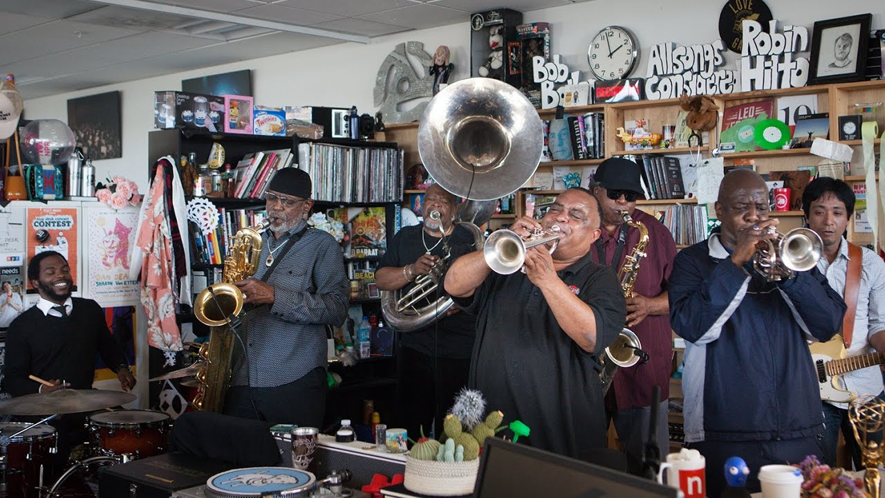 On YouTube: Dirty Dozen Brass Band: NPR Music Tiny Desk Concert
