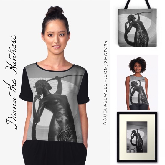 """Wear beautiful art with these """"Diana the Huntress"""" Tops, Prints, Totes and More!"""