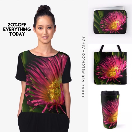 Bring Home Spring with Dazzling Ice Plant Flowers Tops, Totes, Bags, Laptop Sleeves and Much More!
