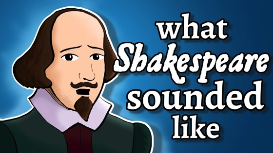 On YouTube: What Shakespeare's English Sounded Like – and how we know via NativLang