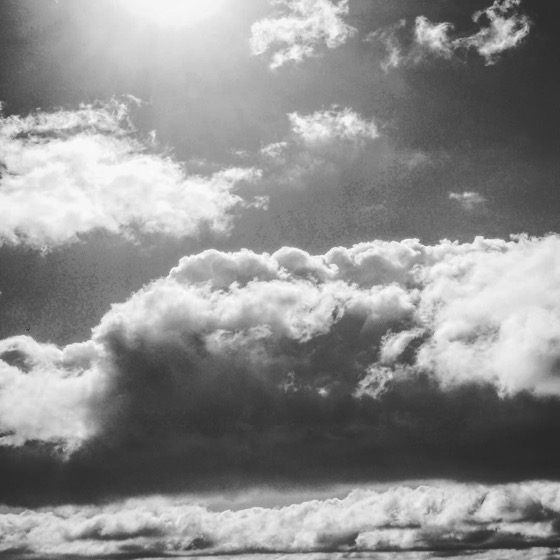 Dramatic sky and sea on Wellington Harbor, New Zealand in Black and White via Instagram