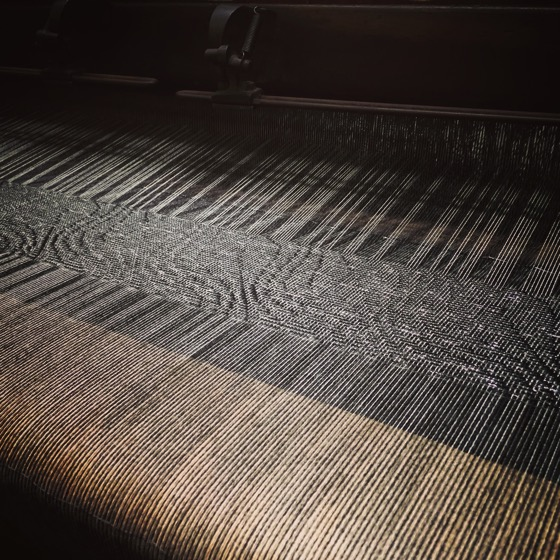 Fabric on Turn of the Century Loom, Stansborough LTD Woolen Mill, Petone, Lower Hutt, New Zealand