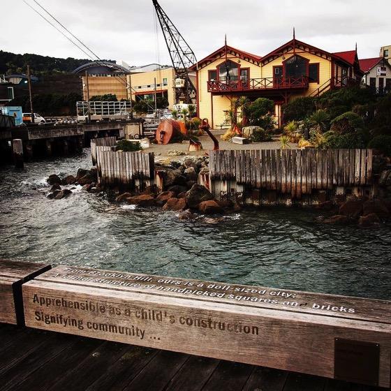 Words at Wellington Harbor via Instagram
