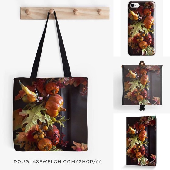 Autumn Wreath Totes, Cards, Smartphone Cases and More!