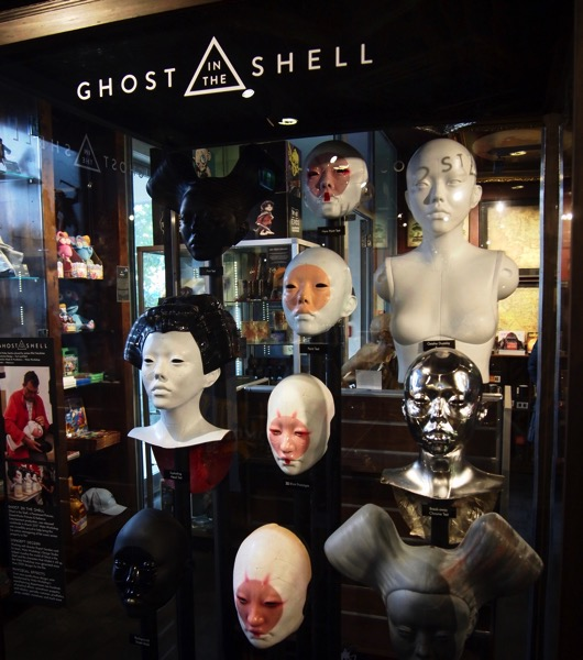 Ghost in the Shell Display at Weta Cave via Instagram