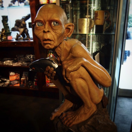 A life size Gollum at the Weta Cave via Instagram