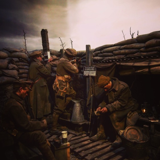 Life in the trenches, Life-size Diorama, The Great War Exhibition, Wellington, New Zealand via Instagram