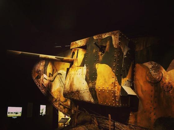 WWI Tank, Life-size Diorama, The Great War Exhibition, Wellington, New Zealand via Instagram