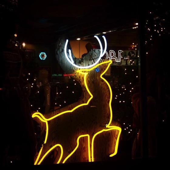 Reindeer in Neon via Instagram