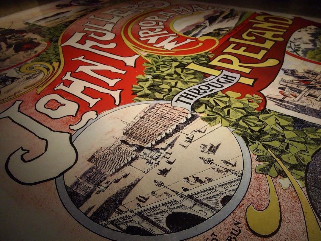 Floor Painting of antique show flyer via Instagram