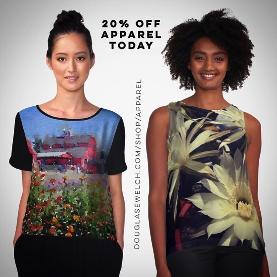 20% Off All Apparel Today!