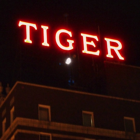Neon on Tiger Hotel, Columbia, Missouri via Instagram