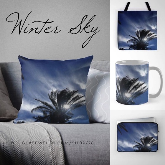 Gift These Palm Springs Winter Sky Totes, Laptop Sleeves, Mugs, Pillows and More! – 15-20% Discounts
