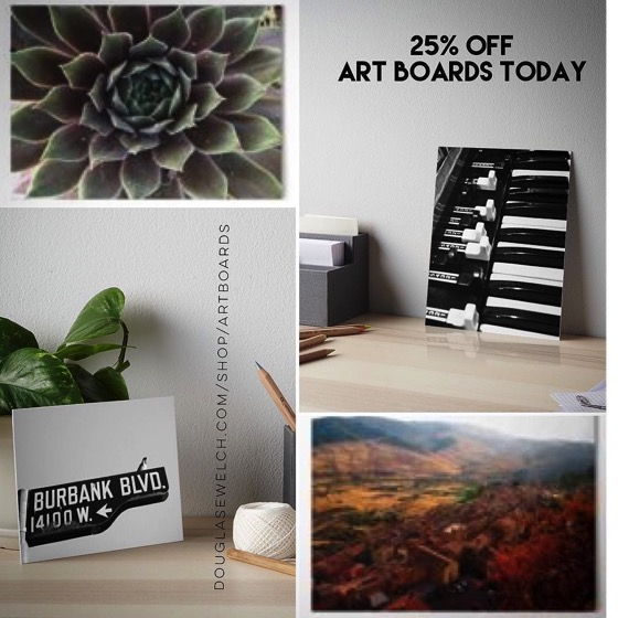 25% Off All Art Boards Today! – Day 3 – 12 Days of Promos from Redbubble