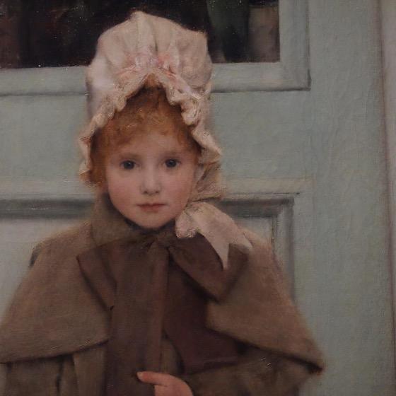 Little Girl, Painting Detail, The Getty Center via Instagram