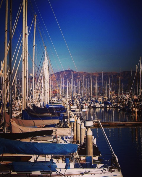 Sailboats in Ventura Harbor via Instagram