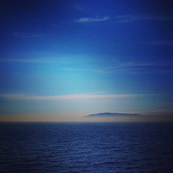 Santa Cruz Island rises out of smoke on way to Santa Cruz Island via Instagram