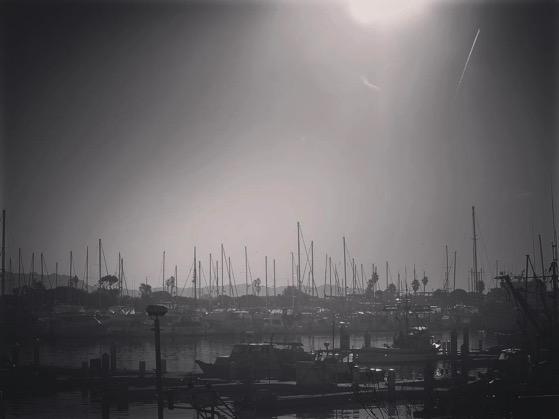 Haze and smoke over Ventura Harbor as we await our boat to Santa Cruz Island via Instagram