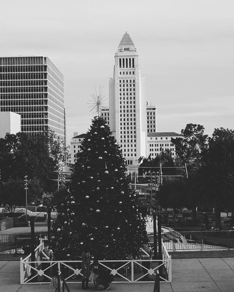My Los Angeles 37 – Los Angeles City Hall and Grand Park at Christmas via Instagram