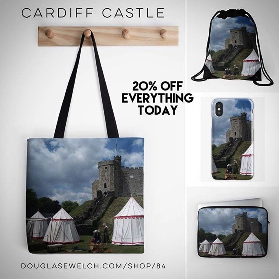 20% OFF Everything Today! – Cardiff Castle Pillows, iPhone Cases and Much More!