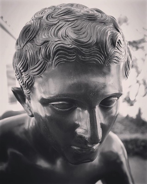 Bronze statue of Mercury (Hermes), Getty Villa via My Instagram