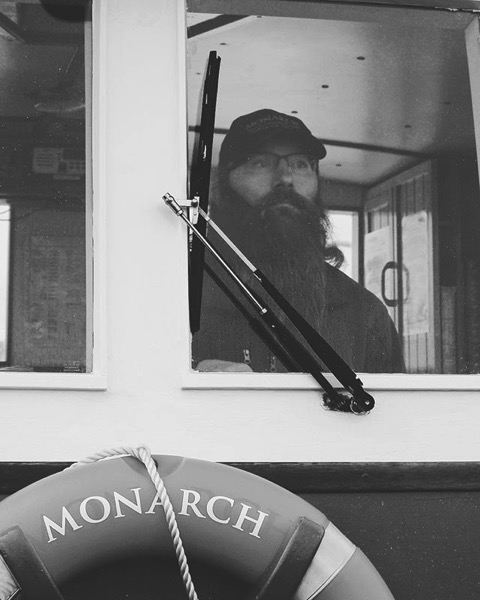 Our Captain and Guide Aboard The Monarch, Otago Harbor, Dunedin, New Zealand from My Instagram