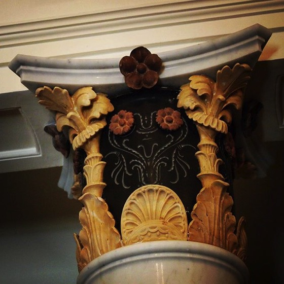 Column Capital at Getty Villa via My Instagram