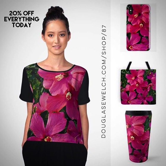 """NEW PRODUCTS! – 20% OFF Everything Today! – Get These Tropical """"Hibiscus Flower"""" Tops, Totes, iPhone Cases, Mugs and Much More!"""