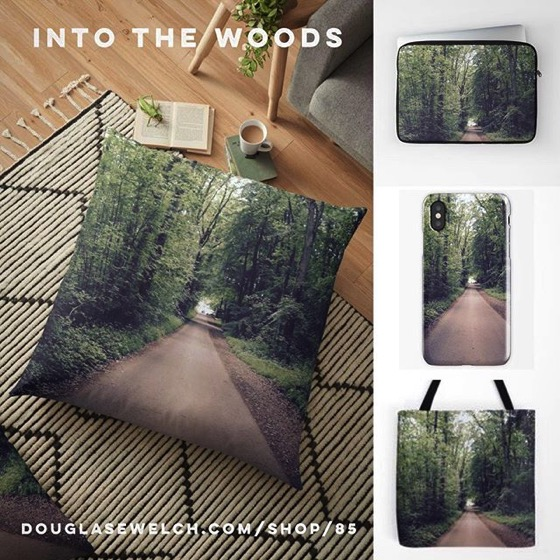 """Get these calming """"Into The Woods. St. Fagan's, Wales"""" Pillows, iPhone Cases and Much More!"""