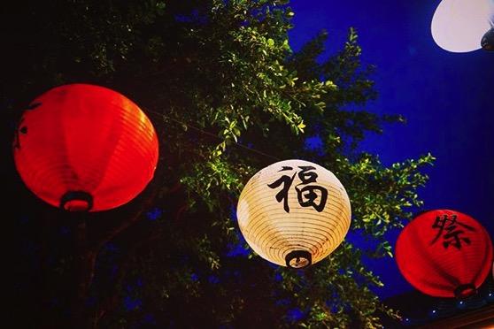Lanterns Light Little Tokyo at Night via My Instagram