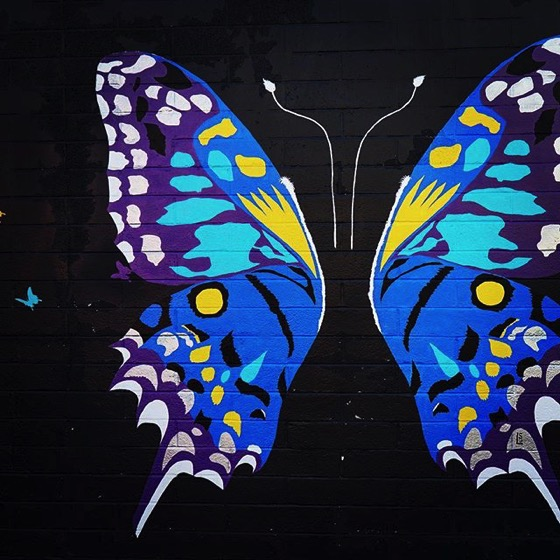 Wonderful Butterfly Street Mural via My Instagram