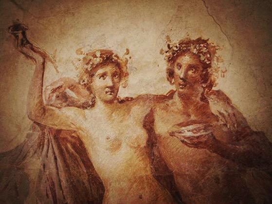 Roman Wall Painting, Getty Villa via My Instagram