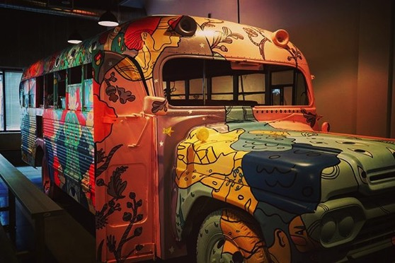 Arduino Day LA 2018: A bus turned art car/sound booth at Toolbox.LA