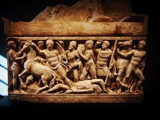 Carved Roman Sarcophagus via My Instagram