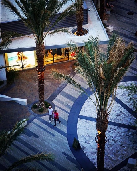 New Plaza in Downtown Palm Springs from the Rowan Hotel via My Instagram